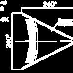 Заглушка конька круглого R110 конусная