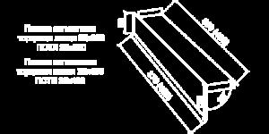 Сегментная торцевая планка левая